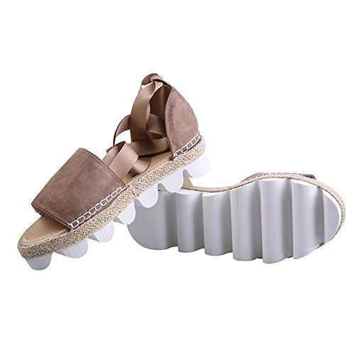Bottom Thick L Shoes Round Flat Bottomed YC Summer Sandals Breathable Mouth Women Pink With 8rqX48