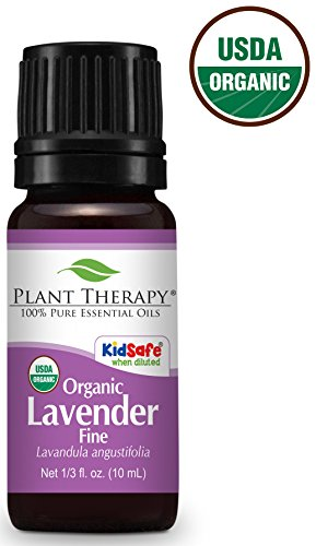Plant Therapy USDA Certified Organic Lavender Fine Essential Oil. 100% Pure, Undiluted, Therapeutic Grade. 10 mL (1/3 Ounce).