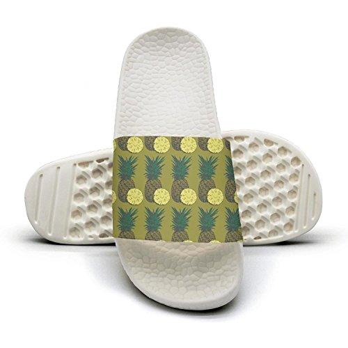 Bath Slipper For Women Tropical Juicy Pineapple Non-Slip Open Toe Shower Sandals Indoor Outdoor Soft Sandals