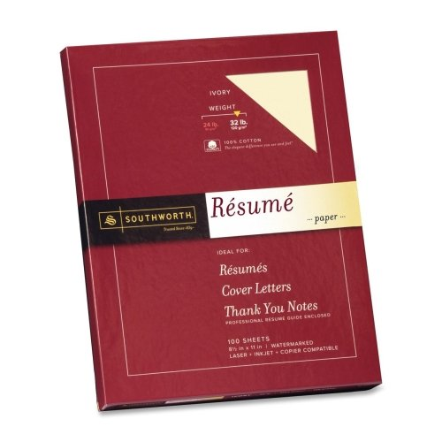 Southworth 100 Cotton Linen Resume Paper , Ivory (Linen Paper Southworth Resume)