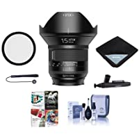 IRIX 15mm f/2.4 Firefly Lens for Nikon DSLR Cameras - Manual Focus - Bundle With 95mm Uv Filter, Lens Wrap (19x19), Cleaning Kit, Capleash II, Lens Pen Lens Cleaner, Software Package