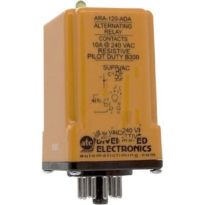 Vac Relay (ATC ARA-120-ADA Plug-In Duplexor Alternating Relay, 120 VAC or VAC/DC, DPDT)