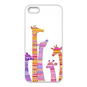 Colorful Aztec Tribal Giraffe Protective Rubber Back Fits Cover Case for iPhone 5 5s by icecream design