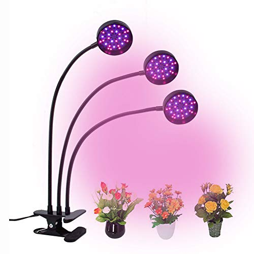 Plant Grow Light, 36W LED Full Spectrum Plant Light for Indoor Plants, Auto ON Off Timer, 6 Dimmable 3/6/12H Timing Triple Head Growing Lamp for Gardening Seedling Herb Succulent Hydroponi