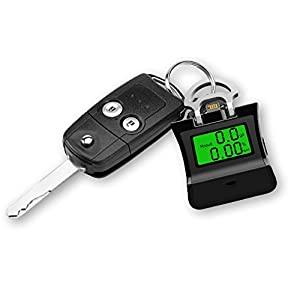 Breathalyzer, Breath Alcohol Tester, Alcohol Detector with LCD Display and Folding Rings for iPhone, Android, iPad or Tablet (Black)