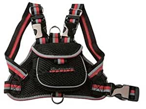Pet Life Mesh Pet Harness With Pouch Small Black