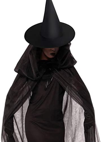 Jerbro Halloween Witch Hat, 12PCS Halloween Costume Witch Hat for Holiday Party Black
