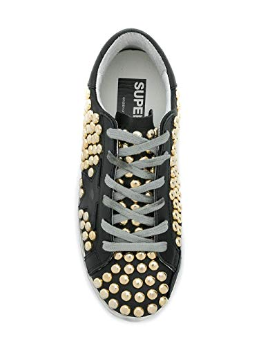 Nero Sneakers Goose Donna Pelle G33ws590g99 Golden RvZgOqwc 78aca27433c