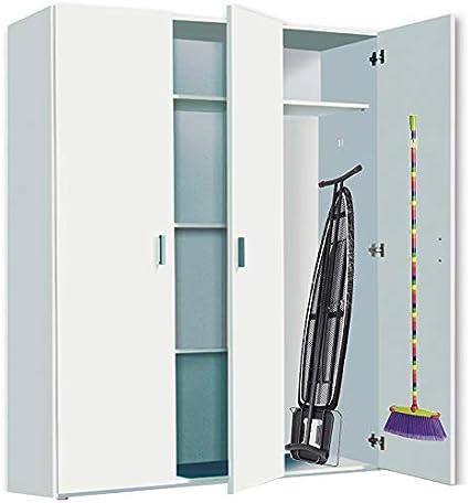 HABITMOBEL Armario organización y almacenamineto Plancha 3 Puertas Alto Especial 190 cm Colgadores incluidos: Amazon.es: Hogar