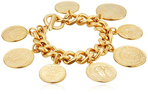 Ben-Amun Jewelry Moroccan Coin 24K Gold Plated Vintage Charm Bracelet, One Size by Ben-Amun Jewelry (Image #1)