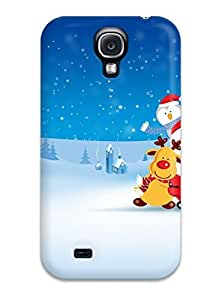 New Premium Flip Case Cover 2011 Merry Chirstmas Skin Case For Galaxy S4