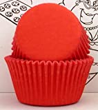 Oasis Supply Baking Cups - Solid - Red - Standard [Kitchen]
