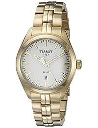 Tissot Women's T1012103303100 PR 100 Analog Display Swiss Quartz Gold Watch