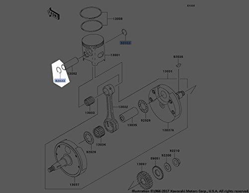 RING-SNAP, PISTON PIN, Genuine Kawasaki OEM Motorcycle / ATV Part, [gp] ()
