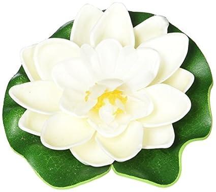 Amazon.com : eDealMax Jardin decorativo espuma flotante Flor de Loto Para el acuario, Verde/Beige : Pet Supplies