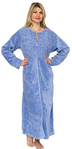 Bath & Robes Womens Cotton Chenille Robe Full Length