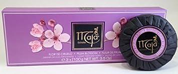 Maja Ciruelo Plum Blossom Soap Set 3 X 3.5 Oz. 100g 10.5 Oz. Total. Fleur De Prunier