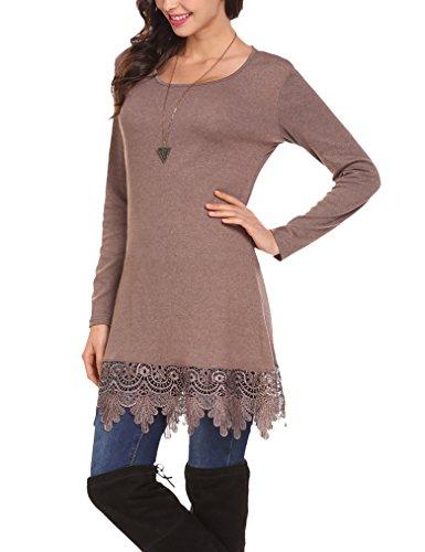 khaki lace dress - 3