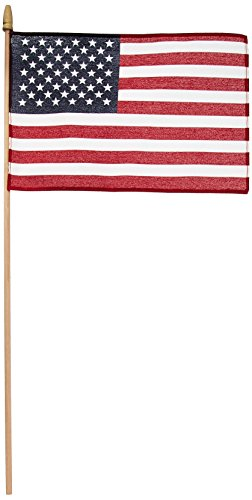 - Online Stores 12-Pack US Stick Flag Standard, Wood Stick with Spear Tip, 8 by 12-Inch