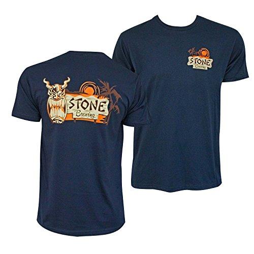Brewing Co T-shirt - Stone Brewing Tiki Mask Navy Tshirt X-Large