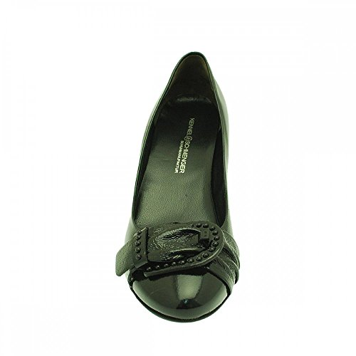 K&s Low Court With Buckle Black Patent