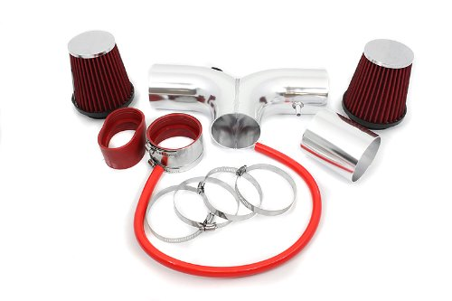 03-08 Dodge Ram Hemi 5.7L V8 Dual / 04-07 Durango Hemi 5.7L V8 Dual Short Ram Intake Red (Included Air Filter) #SR-DG-9R