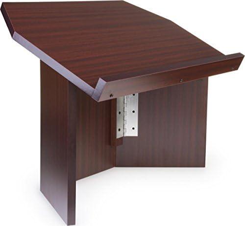 Displays2go atril portátil para uso, madera podio mesa con diseño ...