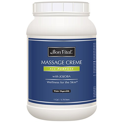 Bon Vital Naturale Massage Crème Made with Natural Ingredients for an Earth-Friendly and Relaxing Massage, Full Body Massage Cream, Daily Moisturizer for All Day Smooth and Soft Skin