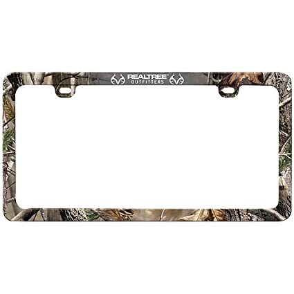 Amazon.com: Realtree License Plate Frame (Realtree AP Camo, Sold ...