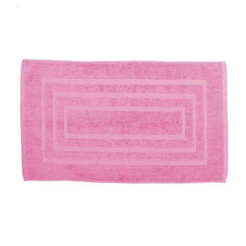 Tappeto da bagno 50x 85cm Lily rosa, spugna 100% cotone AC-Déco