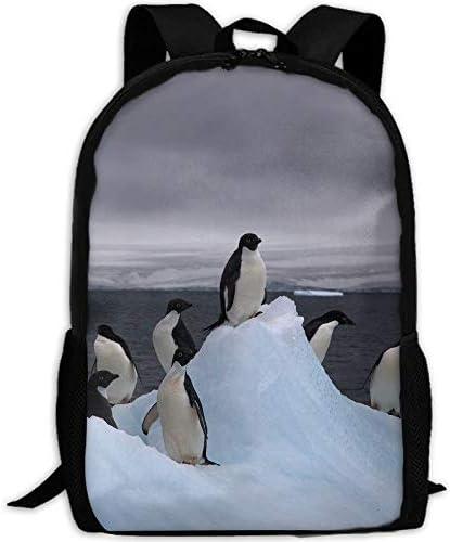 Polo Sur Antártico Pingüino Hielo Adulto Mochila de Viaje Escuela ...