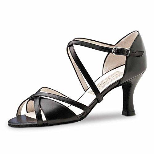 Werner Kern–Zapatos de baile para mujer July 6,5 negro (piel)
