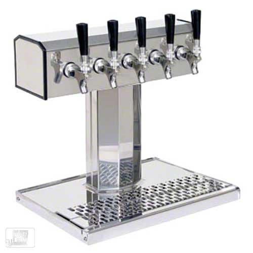 (Glastender (BT-5-MF) - Stainless Steel 5-Faucet Tee Tower )