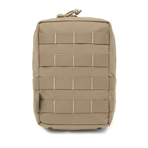 Warrior Assault Systems Zipped Utility MOLLE Pouch, Coyote Tan, Large - Molle System Utility Pouch