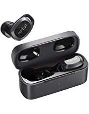 Wireless Earbuds EarFun Free Pro, Active Noise Cancelling 4 Mics Bluetooth 5.2 Earbuds with ANC Transparent Mode, Touch Control, Wireless Charging USB-C Quick Charge, 32H Play Time IPX5 Waterproof