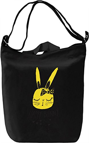 Happy bunny Borsa Giornaliera Canvas Canvas Day Bag| 100% Premium Cotton Canvas| DTG Printing|