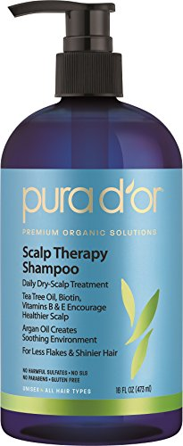 PURA D'OR Scalp Therapy Anti-Dandruff Shampoo Organic Arg...