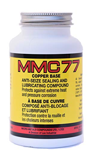 Premium Anti-Seize Sealing and Lubricating Thread Compound Copper Based Lubricant with Brush Cap MMC77 (8oz) Copper Base Anti Seize