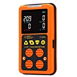 Portable Multi Gas Monitor Digital Air Quality Tester Color LCD Display Rechargeable Battery Powered Handheld 4 in 1 Gas Detector Analyzer