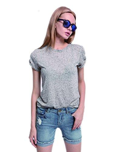 Sima Juniors Luscious Curvy Mid Thigh Denim Shorts (US 8 (M), - Shorts Height Inseam By