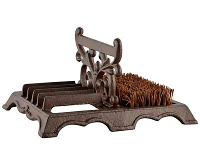 Esschert Design Cast Iron Boot Brush with Scraper