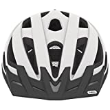 Abus Urban-I Helmet with Integrated LED Taillight, Polar White, Large