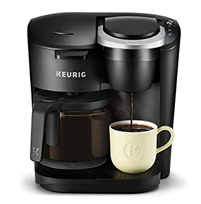 Keurig K-Duo Essentials Coffee Maker, with Single Serve K-Cup Pod and 12 Cup Carafe Brewer, Black from Keurig