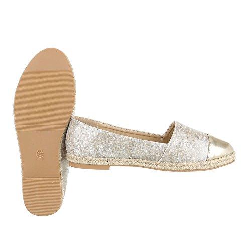 Ital-Design - Tobillo bajo Mujer , color dorado, talla 39 EU