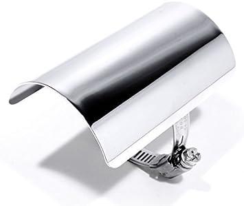 Hitzeschutzblech Hitzeschild Heat Shield Custom Chrom Für Harley Choppper 10cm Auto