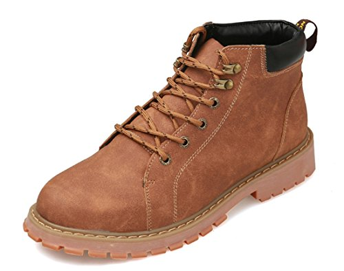 TDA Mens Leisure Outdoor Lace-up Synthetic Hiking Ankle Boots Brown