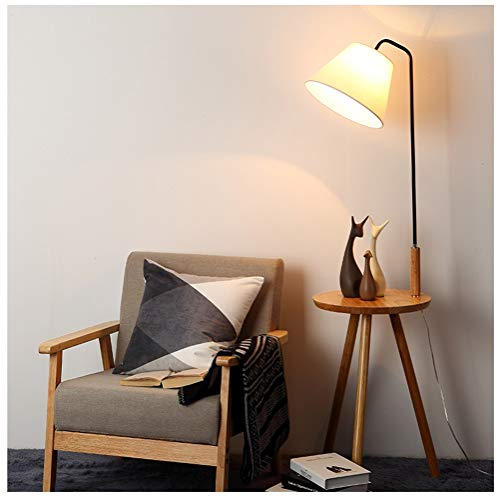 WQQ Floor Lamps Nordic Wooden Floor Lamp Modern Minimalist Creative Living Room Study Room Coffee Table Wrought Iron Floor Lamp