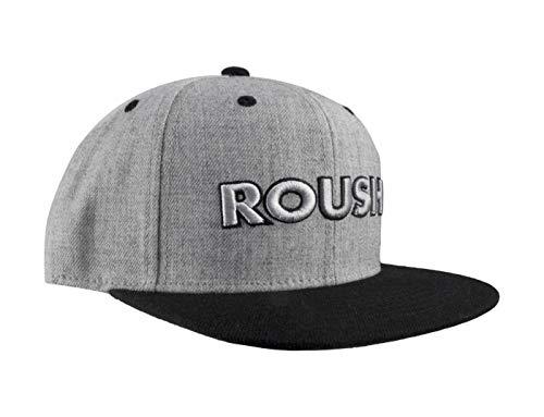 (Roush Black & Gray Wool Flat Bill Cap)
