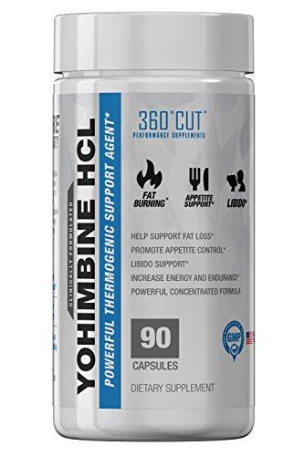 360CUT Yohimbine Capsules de Perte de Poids, le Maximum de Puissance, Facile À Avaler 2,5 mg 90 Capsules