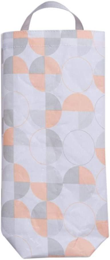 LLYX Bin BagsWaterproof Tela Oxford Bolsa de Basura Organizador con Agujero for Colgar la Bolsa de plástico Dispensador de Montaje en Pared-A (Color : C)
